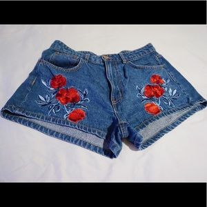 H&m rose embroidered shorts (Coachella collection)